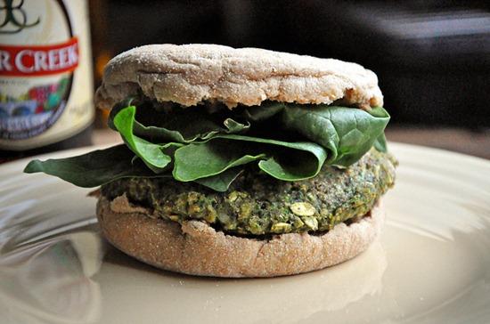 black bean spinach burger   Guest Post: (never home)maker