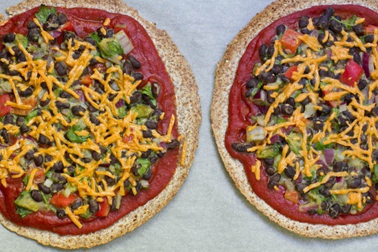 IMG 0773 thumb   High Protein Tortilla Pizzas