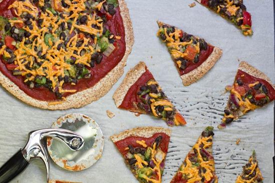 IMG 0783 thumb   High Protein Tortilla Pizzas