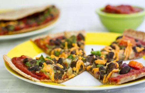 IMG 0786 thumb   High Protein Tortilla Pizzas