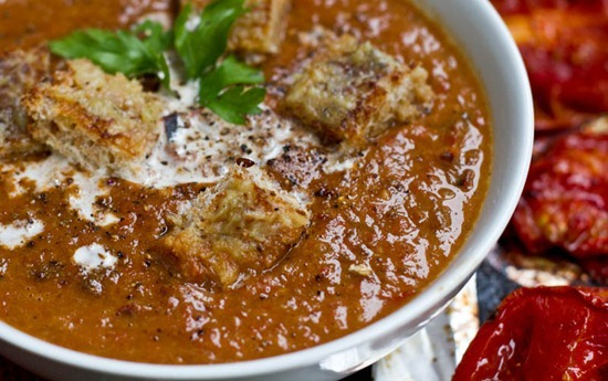 IMG 2205 thumb   Creamy Roasted Tomato, Garlic, & Onion Coconut Soup