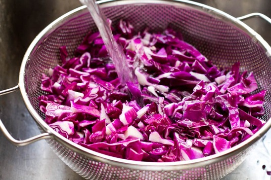Over The Rainbow Cabbage Salad with Tahini-Lemon Dressing — Oh She ...