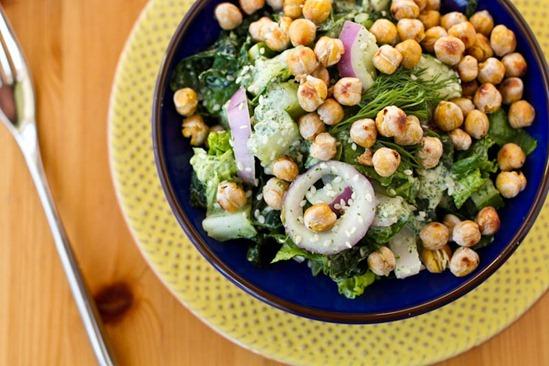 IMG 6009   Dinosaur Dill Crunch Salad with Salt & Vinegar Chickpeas