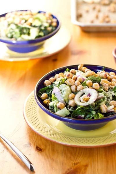 IMG 6011   Dinosaur Dill Crunch Salad with Salt & Vinegar Chickpeas