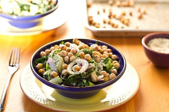 IMG 6016   Dinosaur Dill Crunch Salad with Salt & Vinegar Chickpeas