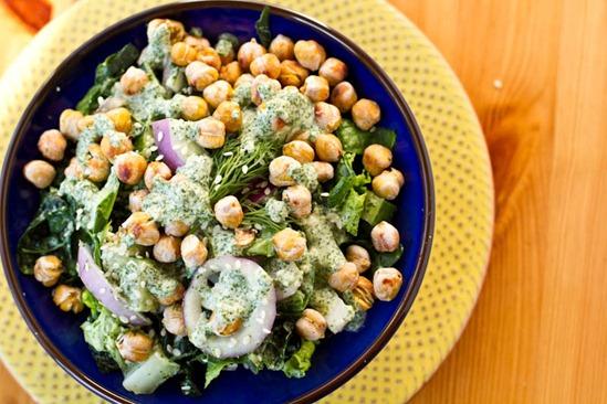 IMG 6020   Dinosaur Dill Crunch Salad with Salt & Vinegar Chickpeas