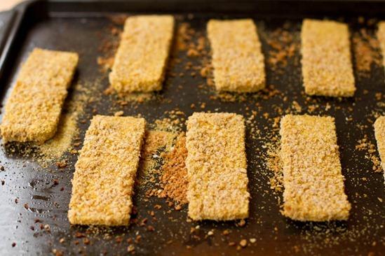 IMG 6301   Easy Weeknight Dinner: Crispy Breaded Tofu Strips & Sweet Potato Fries