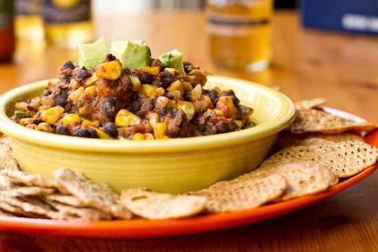IMG 7265   Easy Super Bowl Recipe: Black Bean Chili Dip