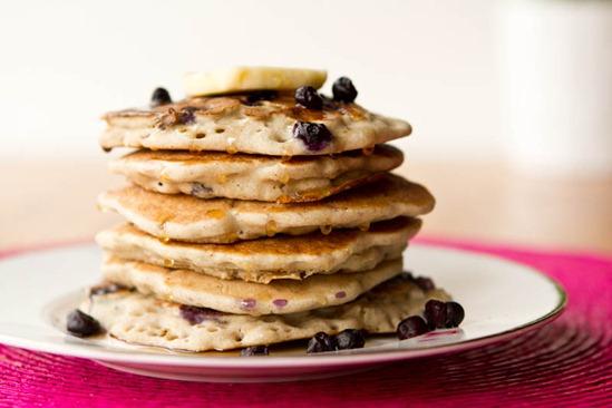 Vegan & Gluten-Free Vanilla Blueberry Buckwheat Pancakes — Oh She ...