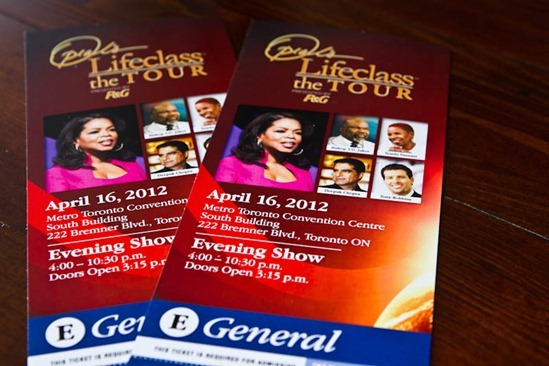 IMG 9215   Lessons from Oprah's Lifeclass in Toronto: Part 1