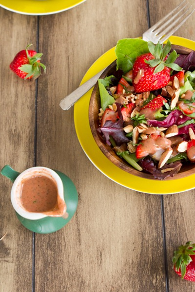 IMG 9508   Spring Salad with Strawberry Lemon Basil Dressing