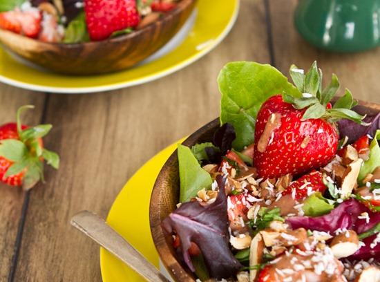 IMG 9519 2   Spring Salad with Strawberry Lemon Basil Dressing