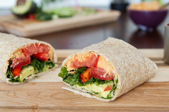 """Sneaky Red Lentil """"Hummus"""" & Kitchen Sink Veggie Wrap — Oh She ..."""