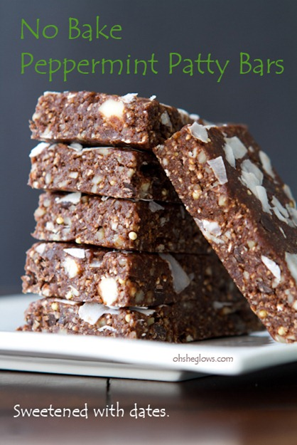 No Bake Peppermint Date Bars-4603