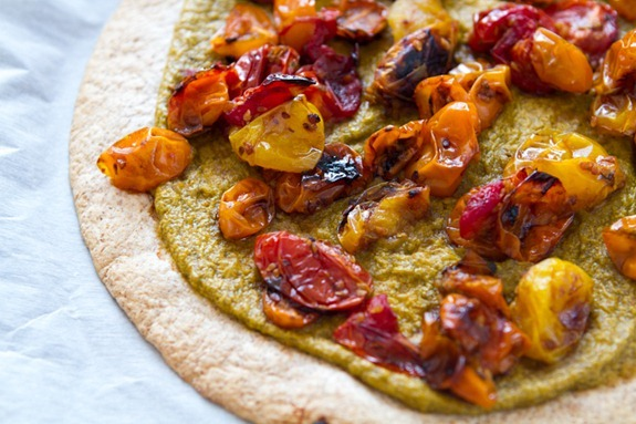 Tortilla Pizza with Basil Cashew Cheese 3638   10 Tomato Recipes To Knock Your Socks Off