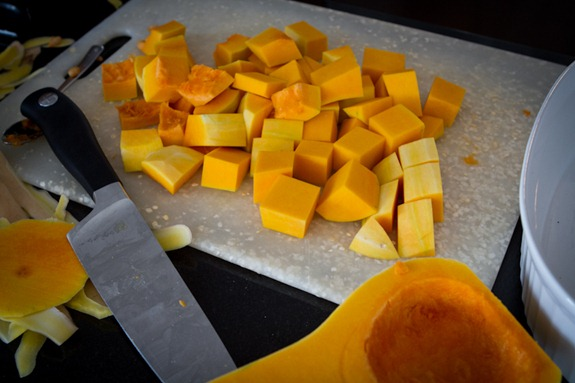 roasted butternut squash 6431   Roasted Butternut Squash with Kale and Almond Pecan Parmesan