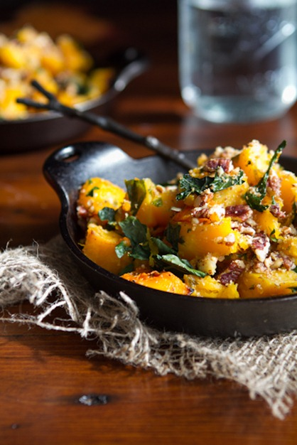 roasted butternut squash with almond parmesan-6493