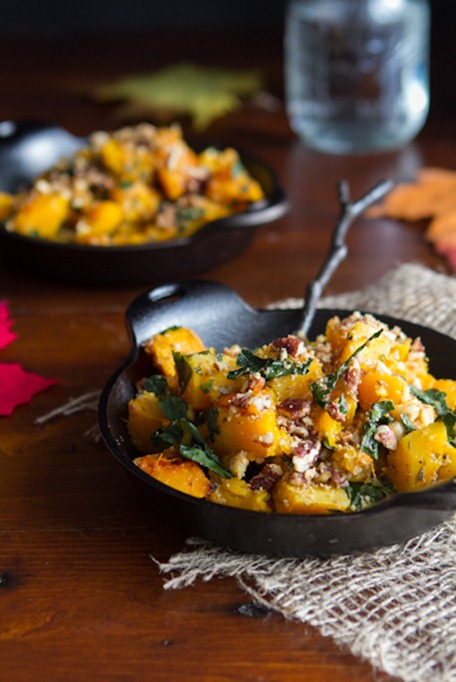 roasted butternut squash with almond parmesan-6507