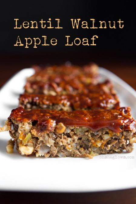 Lentil Loaf 4 2   Glazed Lentil Walnut Apple Loaf, Revisited