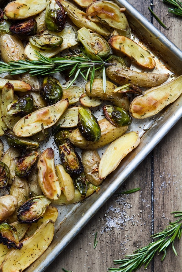 roasted brussels sprouts and fingerling potatoes with rosemary-6793-3