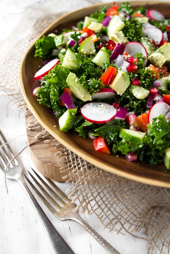kale salad 7938 thumb   My Go To Kale Salad