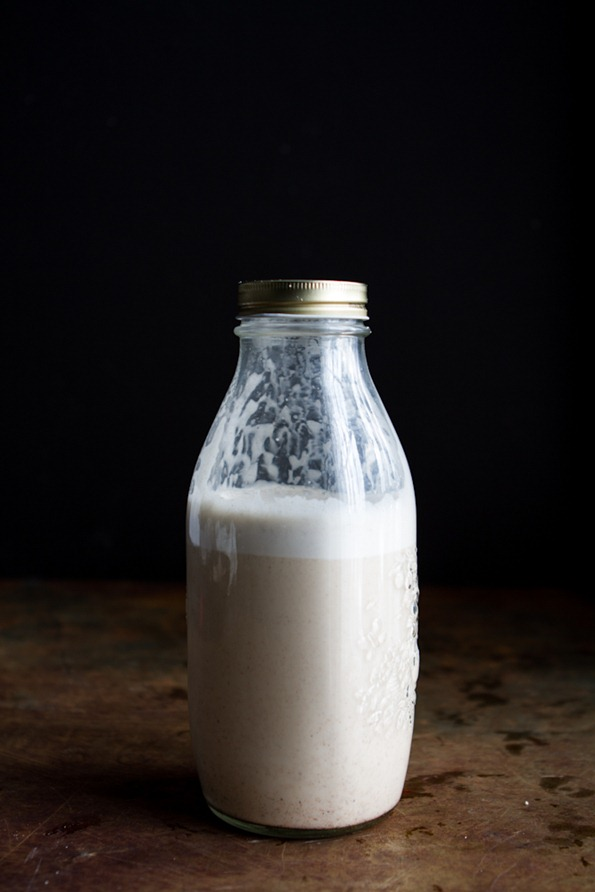 homemade almond milk -0988