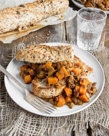 maple baked lentils -9961