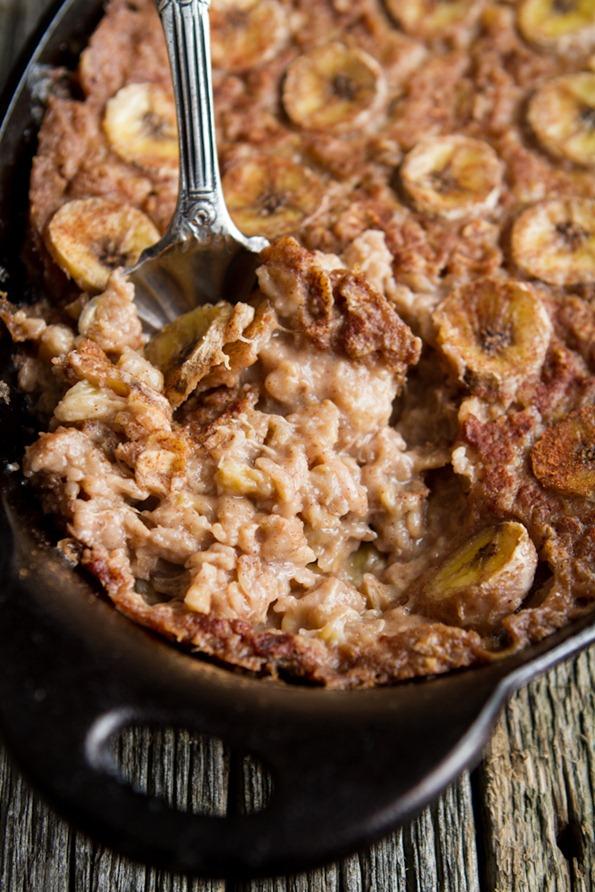 banana foster baked oatmeal 1719 thumb Vegan Bananas Foster Baked ...