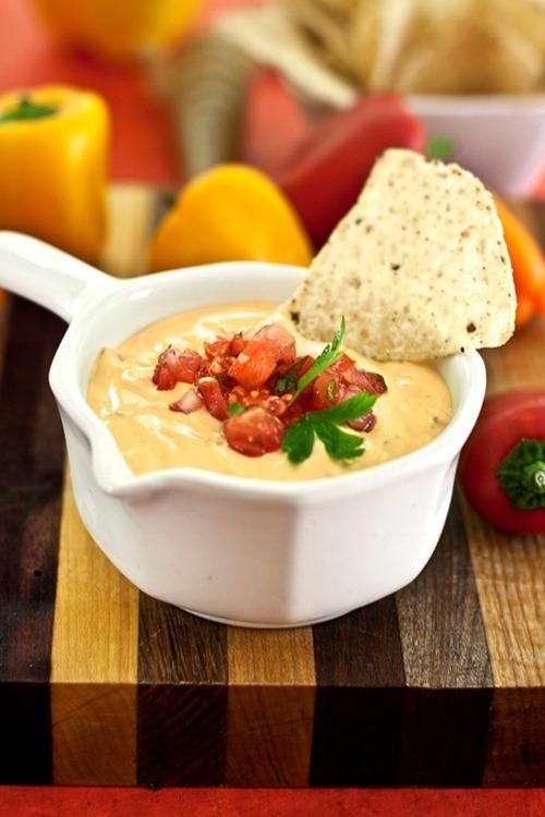 vegan cheese dip dreena burton thumb   The Big Vegan Super Bowl Recipe Round Up