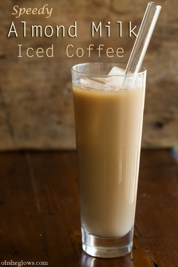 How to make iced coffee at home with almond milk