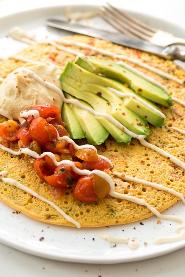 Jumbo Chickpea Pancake A High Protein Filling Vegan Breakfast Or