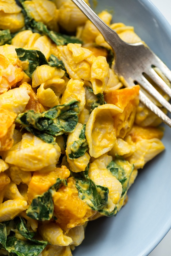 Smoky Butternut Squash Sauce with Pasta and Greens — Oh She Glows
