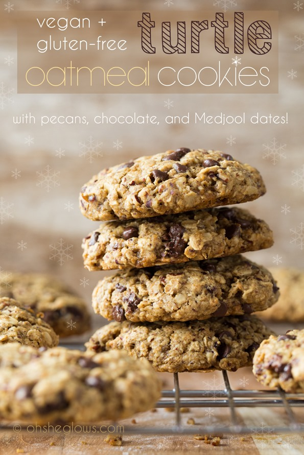 Turtle Oatmeal Cookies with Pecans, Chocolate, and Medjool Dates — Oh She Glows