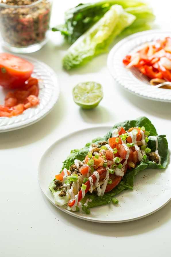 Ultimate Green Taco Wraps with Lentil-Walnut Taco Meat (Vegan + Gluten