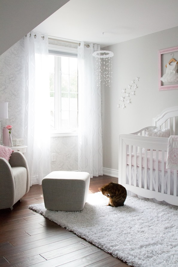 Pink And Gray Baby Nursery Tour
