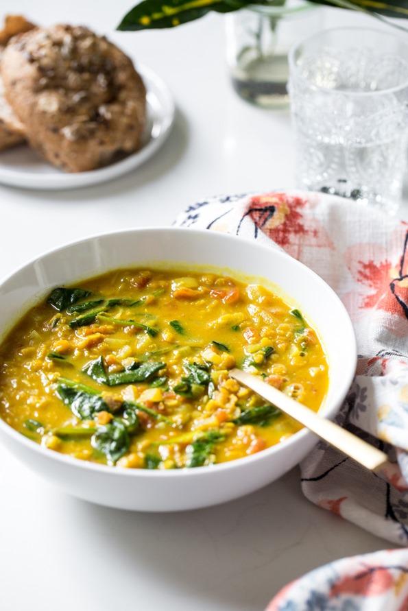 Glowing Spiced Lentil Soup