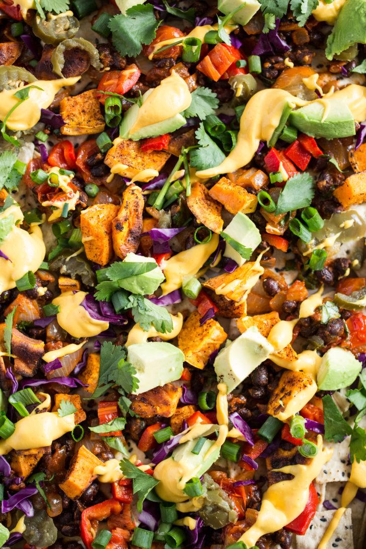 Vegan Nachos Closeup