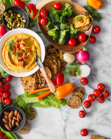 Roasted Carrot and Dill Hummus Spread