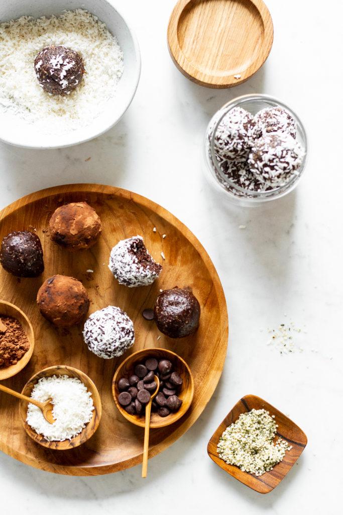 Easy Chocolate Hemp Protein Balls