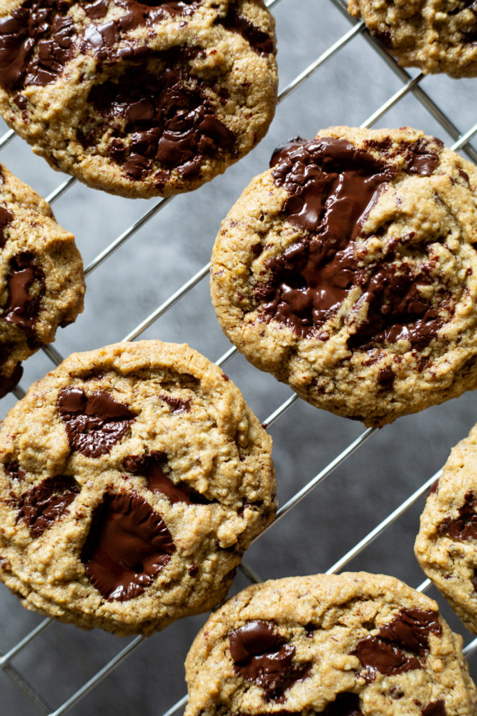 Grain-free, Nut-free Vegan Chocolate Chunk Cookies