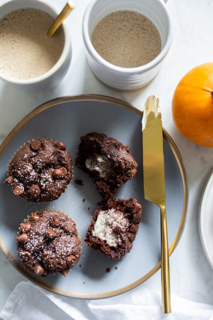 One Bowl Pumpkin Chocolate Muffins (Vegan + Gluten-free)