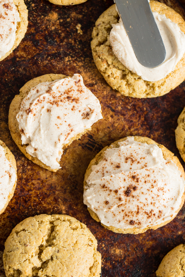 Perfect Little Pumpkin Cookies with Spiced Buttercream
